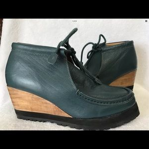 Ecote Teal Blue Green Booties 9